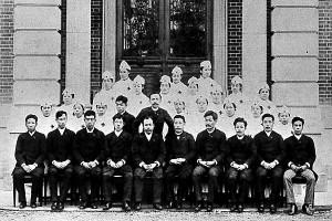 1892(明治25)年,養成所1回2回生卒業証書授与式,所蔵:日赤看護大学史料室